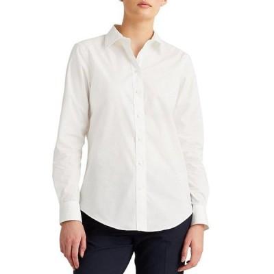 ラルフローレン レディース シャツ トップス Easy Care Long Sleeve Cotton-Blend Shirt