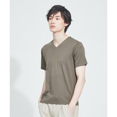 ABAHOUSE / アバハウス 【Recency of Mine】綿モダールWフェイスVネック 半袖Tシャツ