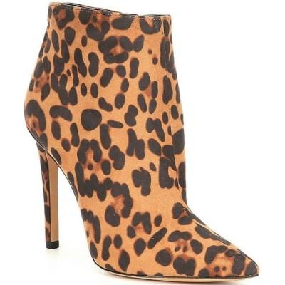 ジェシカシンプソン レディース ブーツ・レインブーツ シューズ Paytie Leopard Print Stiletto Booties