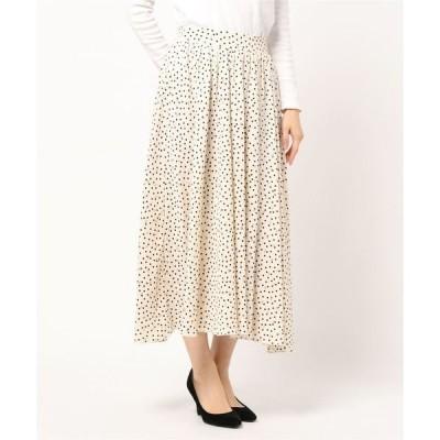 スカート プリント(花柄・ドット)ギャザーボリュームスカート