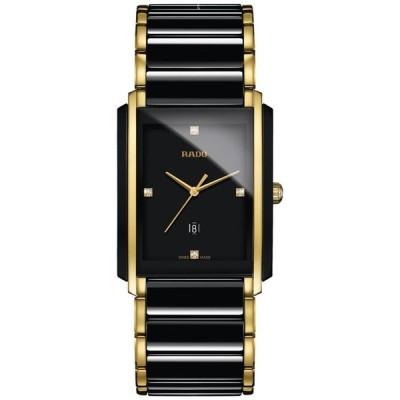 ラド メンズ 腕時計 アクセサリー Men's Swiss Integral Diamond Accent Black Ceramic & Gold-Tone Stainless Steel Bracelet Watch 31x41mm R20204712