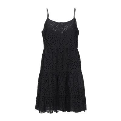 トゥルーレリジョン TRUE RELIGION ミニワンピース&ドレス ブラック L コットン 100% ミニワンピース&ドレス