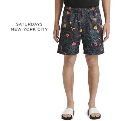 Saturdays NYC サタデーズ ニューヨークシティ 花柄 スウィムショーツ M41921TR02 総柄 海パン 水着 10周年 メンズ