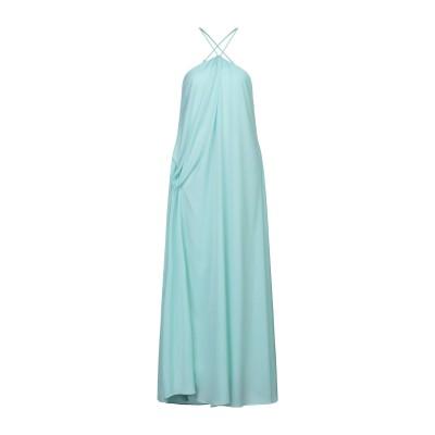 WEILI ZHENG ロングワンピース&ドレス スカイブルー XS ポリエステル 100% ロングワンピース&ドレス