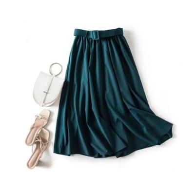 picknfit レディース スカート Luxury full belted A-line skirt
