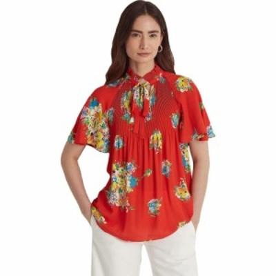 ラルフ ローレン LAUREN Ralph Lauren レディース ブラウス・シャツ トップス Floral Georgette Tie-Neck Top Bright Hibiscus Multi