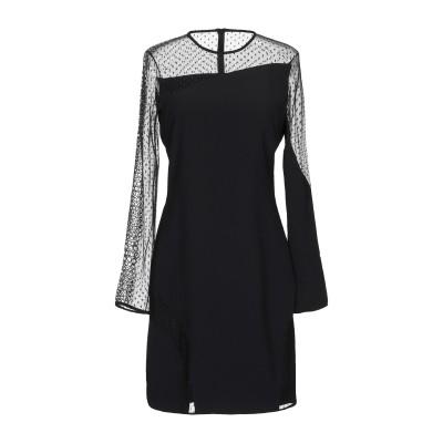 ピンコ PINKO ミニワンピース&ドレス ブラック 38 ポリエステル 100% / ナイロン / ポリウレタン ミニワンピース&ドレス