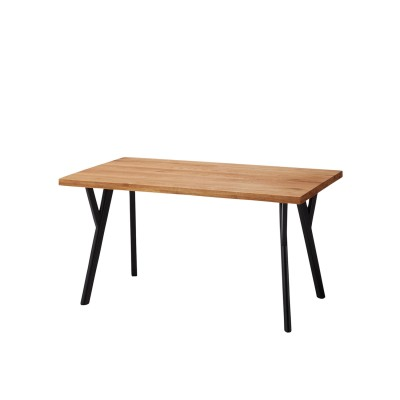 天然木オーク材のデザイン脚ダイニングテーブル<4人用/6人用>