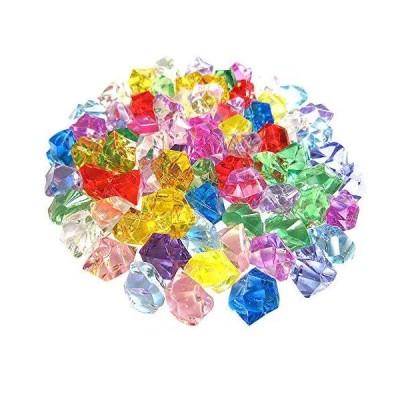 [RADISSY] アクリルストーン クリスタルストーン アイスキューブ 190粒 カラー全3種 (ミックス)