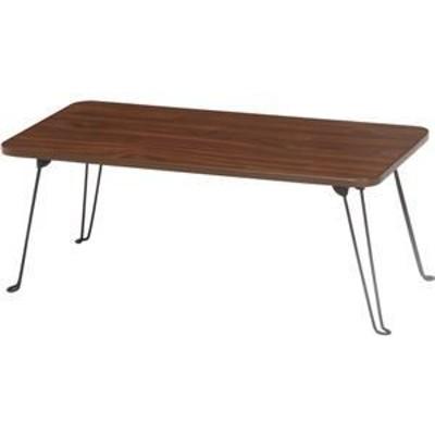 ds-1950902 北欧風 ローテーブル/センターテーブル 【ブラウン】 幅80cm 折りたたみ 木目調 (ds1950902)