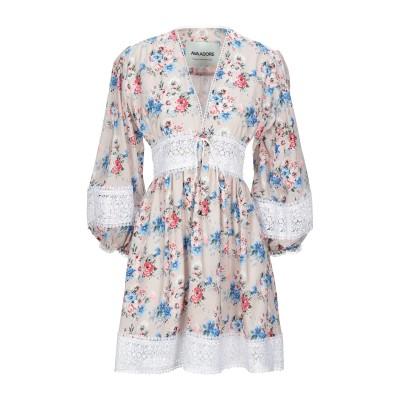 AVA ADORE ミニワンピース&ドレス ベージュ 40 コットン 100% / ポリエステル ミニワンピース&ドレス