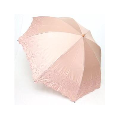 晴雨兼用折りたたみ傘 綿サテンボーラー刺繍 UV加工