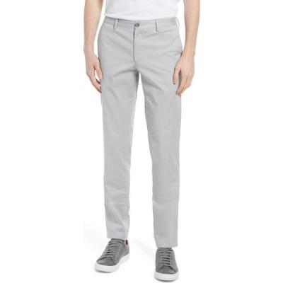 ヒューゴ ボス BOSS メンズ スラックス ボトムス・パンツ Stanino Flat Front Stretch Cotton Dress Pants Open Grey