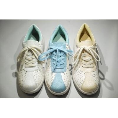ゴールデンフット レディースシューズ 5525   フラワーパンチングウォーキングシューズ 婦人靴