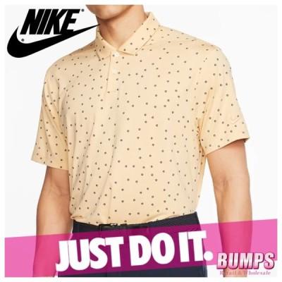 NIKE ナイキ ポロシャツ 半袖 メンズ ドライフィット ヴェイパー(ベイパー) 水玉 ドット柄 プリント ロゴ ゴルフ トップス 新作