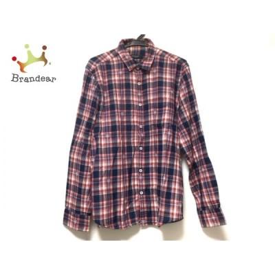 ブラックレーベルクレストブリッジ 長袖シャツ サイズ3 L メンズ - レッド×ネイビー×マルチ   スペシャル特価 20210407