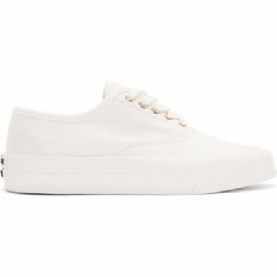 メゾン キツネ Maison Kitsune レディース スニーカー シューズ・靴 white laced sneaker Supplier Color: White