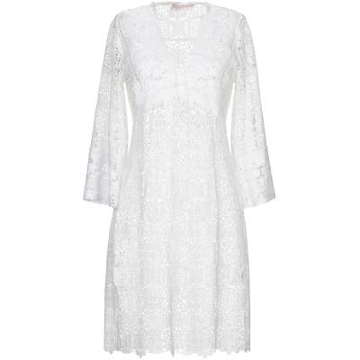 VALERIE KHALFON ミニワンピース&ドレス ホワイト 38 ポリエステル 100% ミニワンピース&ドレス