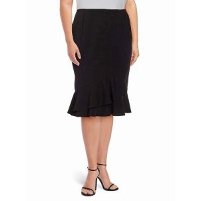 カルバンクライン レディース スカート Plus Ruffle Knee-Length Skirt