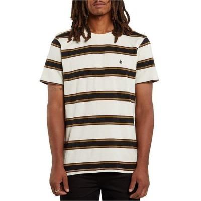 ボルコム メンズ Tシャツ トップス Volcom DA Fino Stripe Crew T-Shirt