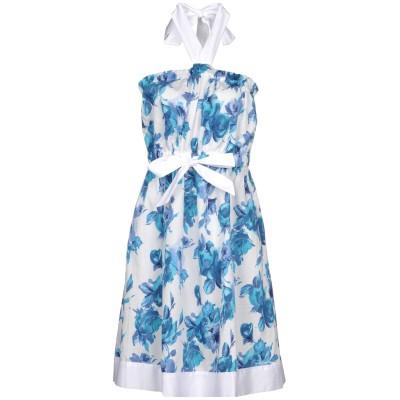 ツインセット シモーナ バルビエリ TWINSET ミニワンピース&ドレス アジュールブルー M コットン 100% ミニワンピース&ドレス