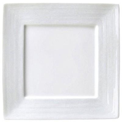 【24cm正角皿】 グラシアプレーン 高さ21(mm)【業務用】