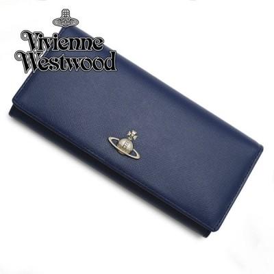 ヴィヴィアンウェストウッド Vivienne Westwood 小銭入れ付 サイフ 長財布 51120005-40187-K402/BLUE