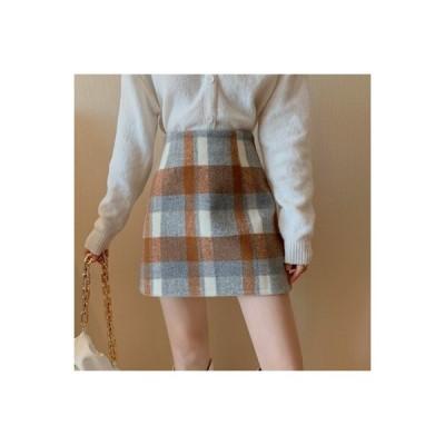 【送料無料】手厚い スカート 秋冬 ファッション レトロ 何でも似合う ハイ   346770_A64204-9030904