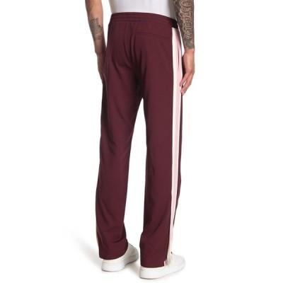 ヴァレンティノ メンズ カジュアルパンツ ボトムス Side Stripe Track Pants BORDEAUX/SILVER PINK