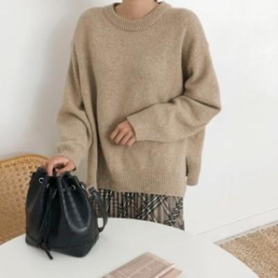 袖ボリューム アースカラー 秋服 冬服 レディース 大きいサイズのレディース服 30代 40代 50代のファッションレディース 大人コーデ