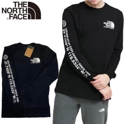 ノースフェイス ロンT 袖ロゴ 長袖 Tシャツ ブラック メンズ NF0A55VCJ ロゴ THE NORTH FACE MEN'S COORDINATES TEE