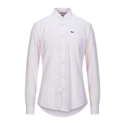 HARMONT&BLAINE シャツ ホワイト L コットン 87% / リネン 10% / ナイロン 3% シャツ