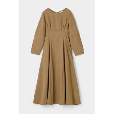【マウジー】 COCOON SLEEVE FLARE ドレス レディース ベージュ 1 MOUSSY