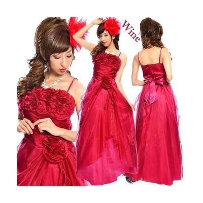 【Lサイズ】薔薇のブーケ風ボリューム姫ドレス