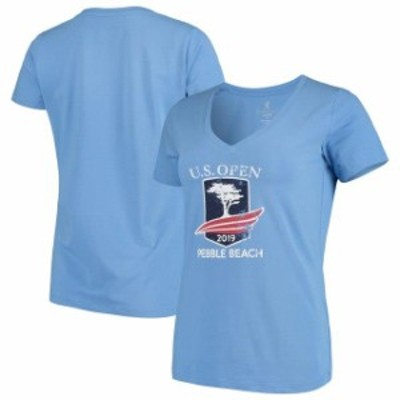 Kate Lord ケイト ロード スポーツ用品  Womens 2019 U.S. Open Kate Lord Blue Sandgate V-Neck T-Shirt