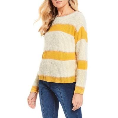 チェルシーアンドバイオレット レディース パーカー・スウェット アウター Stripe Eyelash Knit Sweater