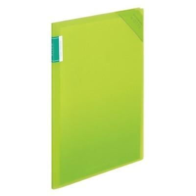 クリヤーホルダーブック モッテ 固定式 A4 縦 4P 黄緑 書類収納 整理 ファイル ポケット [02] 〔メール便対象〕
