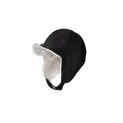 Croogo 裏ボア 防寒帽 飛行帽 アビエーター パイロットキャップ フライトキャップ 寒冷地 短いツバキャップ 農作業 雪掻き メンズ 冬 暖かい