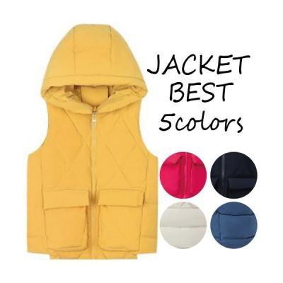 ベスト レディース コート スリム ショートコート 単色 シンプル 綿 おしゃれ