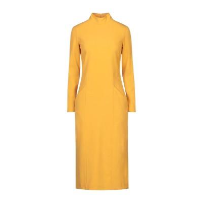 マニラ グレース MANILA GRACE 7分丈ワンピース・ドレス オークル 42 ポリエステル 68% / レーヨン 28% / ポリウレタン