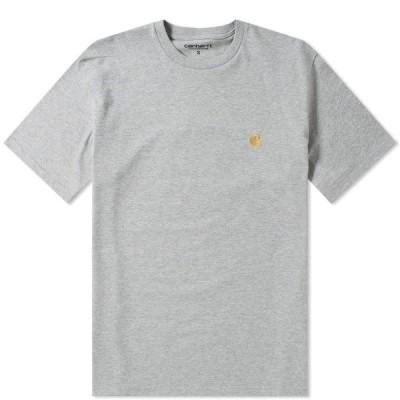 カーハート Carhartt WIP メンズ Tシャツ トップス Chase Tee Grey Heather/Gold