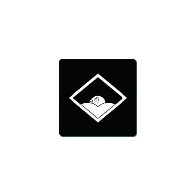 家紋シール 菱に覗き雁金紋 24cm x 24cm KS24-2652W 白紋