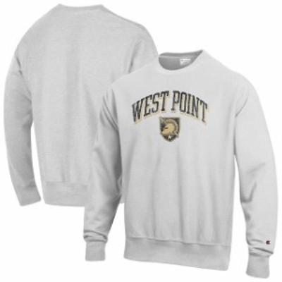 Champion チャンピオン スポーツ用品  Champion Army Black Knights Gray Arch Over Logo Reverse Weave Pullover Sweatshirt