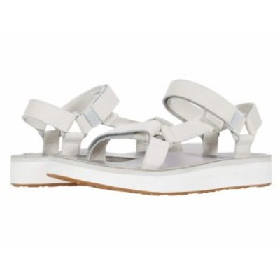 Teva テバ レディース 女性用 シューズ 靴 サンダル Midform Universal Leather White/Grey【送料無料】