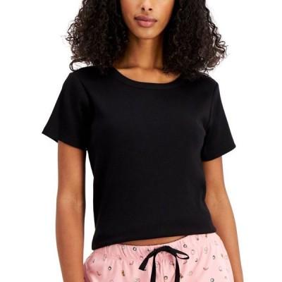 ジェニィ レディース Tシャツ トップス Ribbed-Knit Pajama T-Shirt