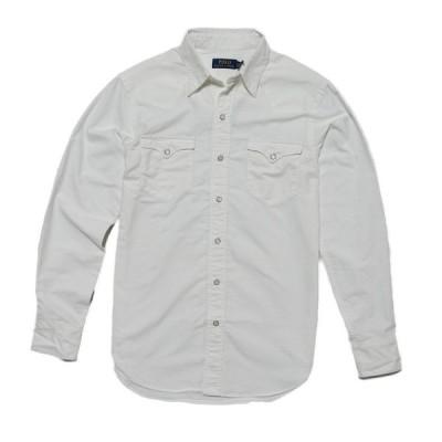 ポロ ラルフローレン POLO RALPH LAUREN メンズ Men's スタンダードフィット 長袖シャツ Cotton Oxford Western Shirt ホワイト Bsr White