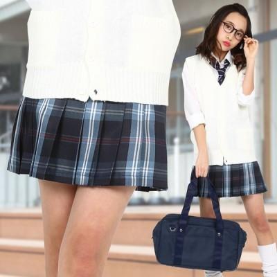 TEENS EVER 16SS 無地 プリーツスカート(ネイビー×ブルー Lサイズ) スクールスカート 制服 無地 女子 レディース 高校生 中学生 学校 4560320864554