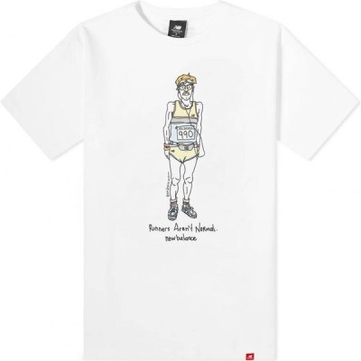 ニューバランス New Balance メンズ Tシャツ トップス Essentials Runner Tee White