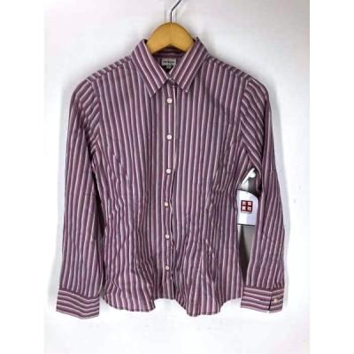 カルバンクラインジーンズ Calvin Klein Jeans ストライプ ボタン シャツ レディース M 中古 古着 210609