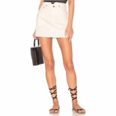 フリーピープル ミニスカート Shes All That Denim Mini Skirt White